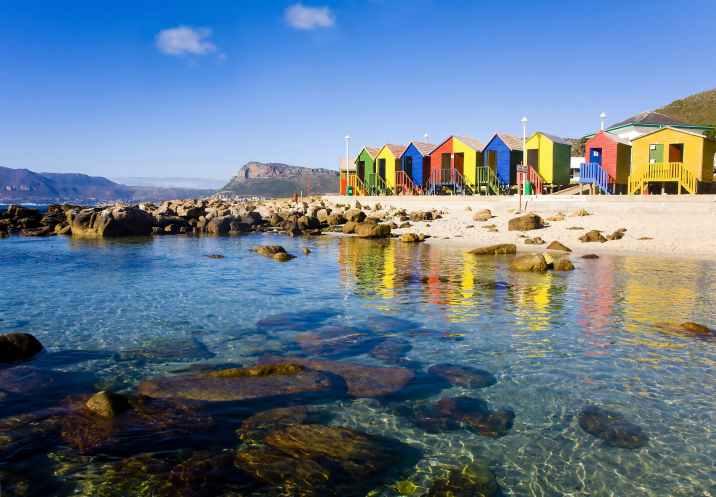 Praia colorida